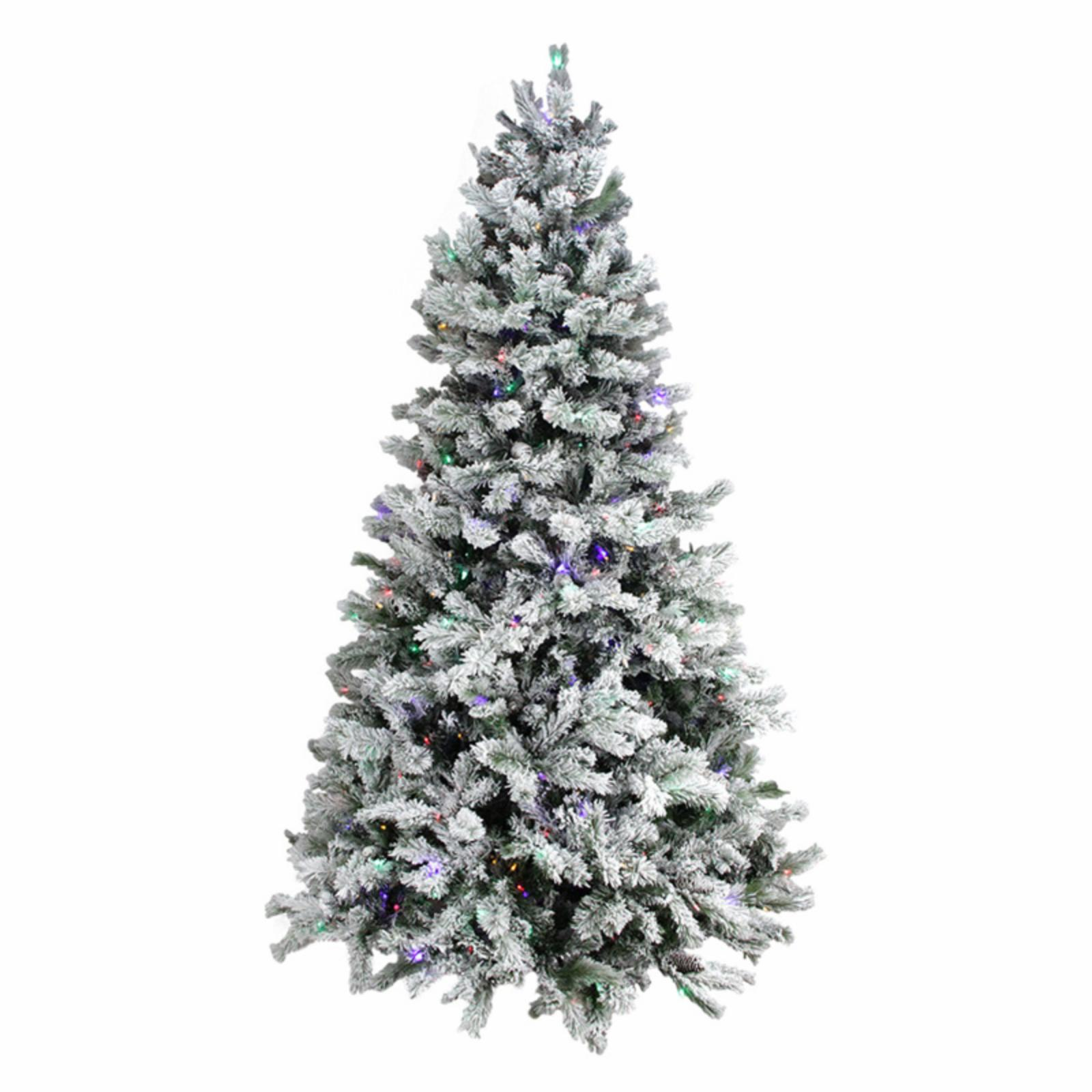Flocked Pre Lit Christmas Tree.Details About Northlight 7 5 Ft Victoria Pine Flocked Pre Lit Christmas Tree