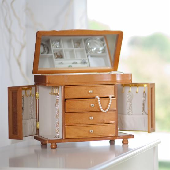 Mele & Co. Josephine Wooden Jewelry Box - 14W x 11.5H in.