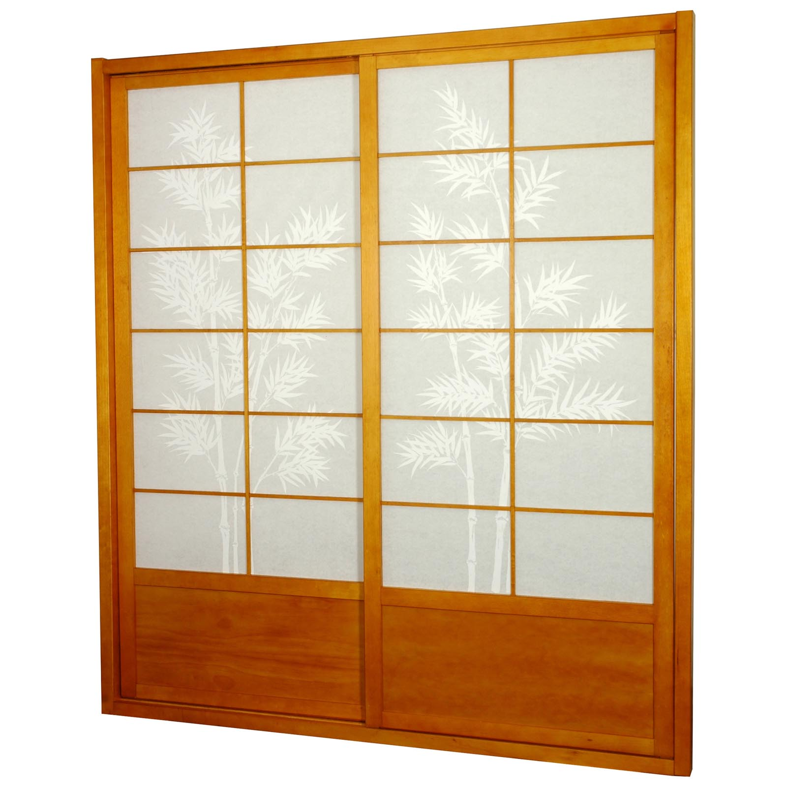 Oriental Furniture Bamboo Tree Shoji Sliding Door Kit | EBay