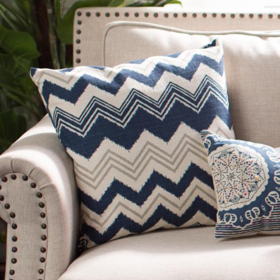 The Pillow Collection Quirindi Zigzag Pillow - Birch