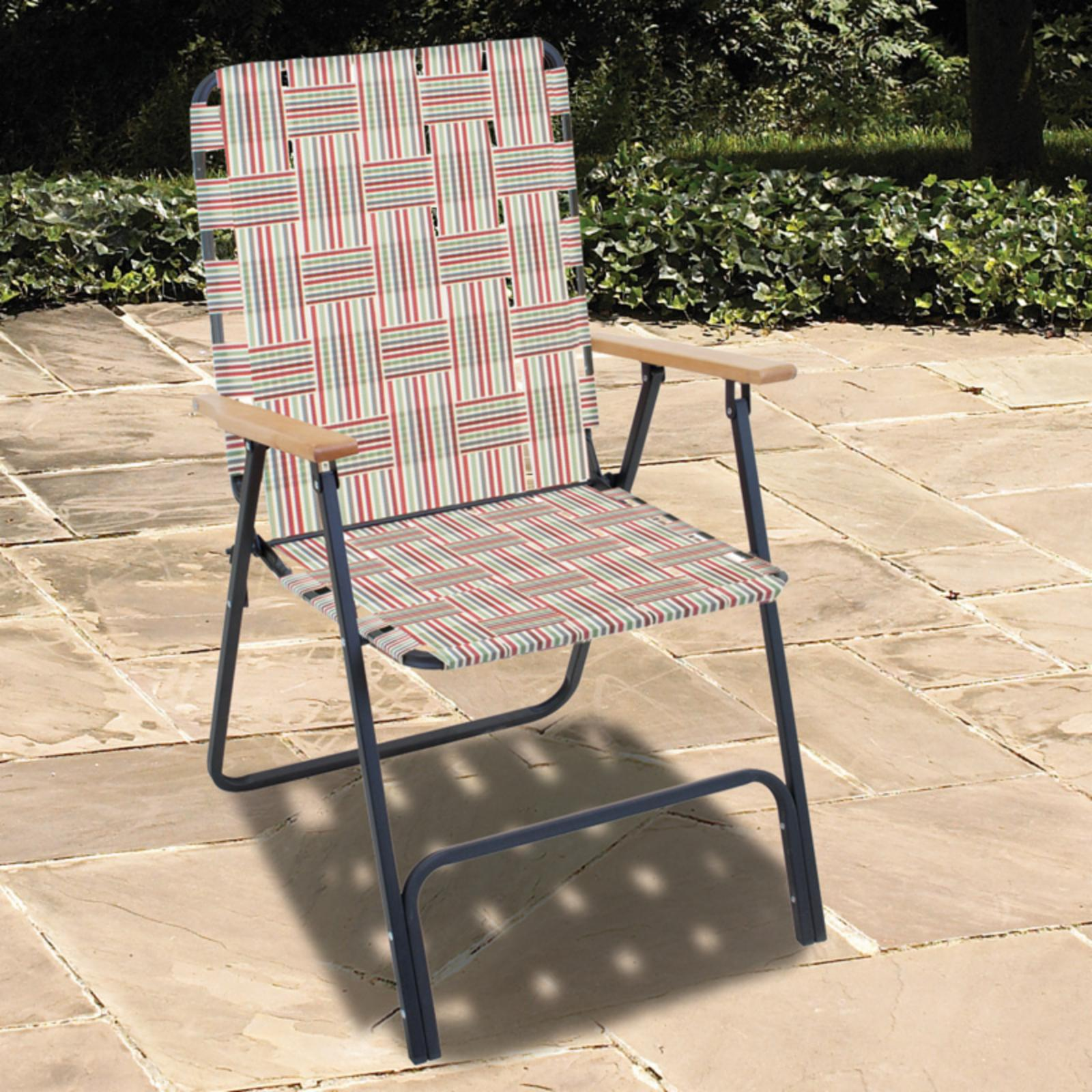Rio Brands Rio Folding Highback Web Lawn Chair Ebay