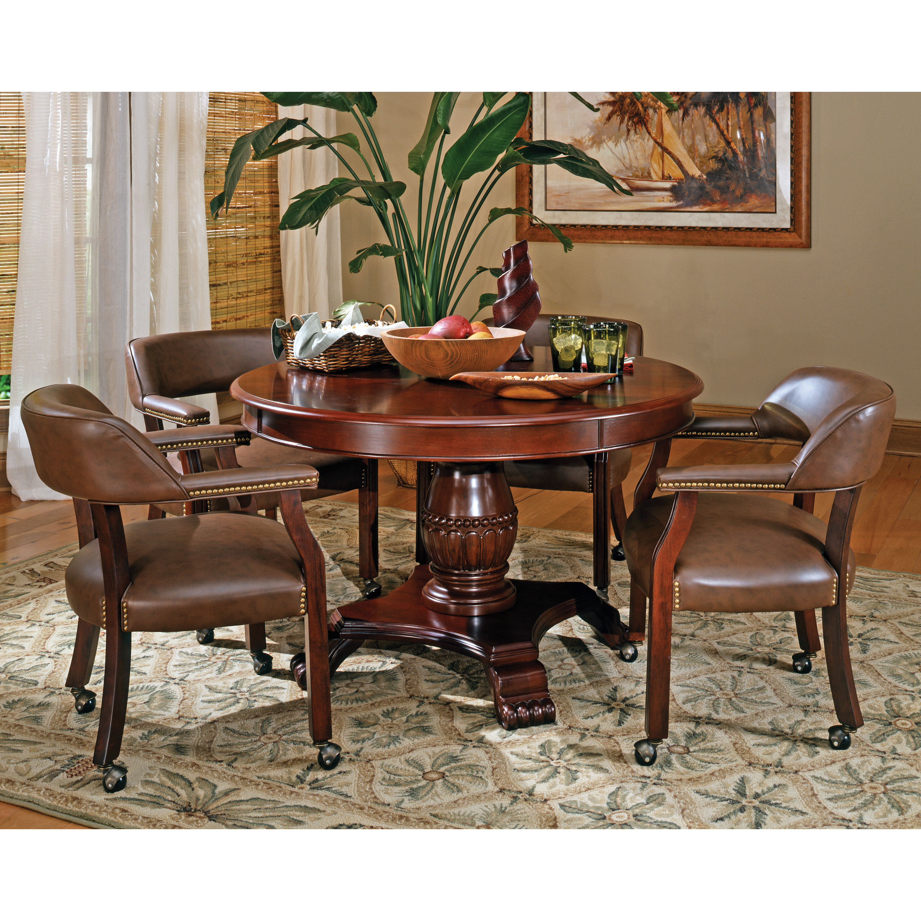 Steve Silver Tournament Dining Game Table Cherry