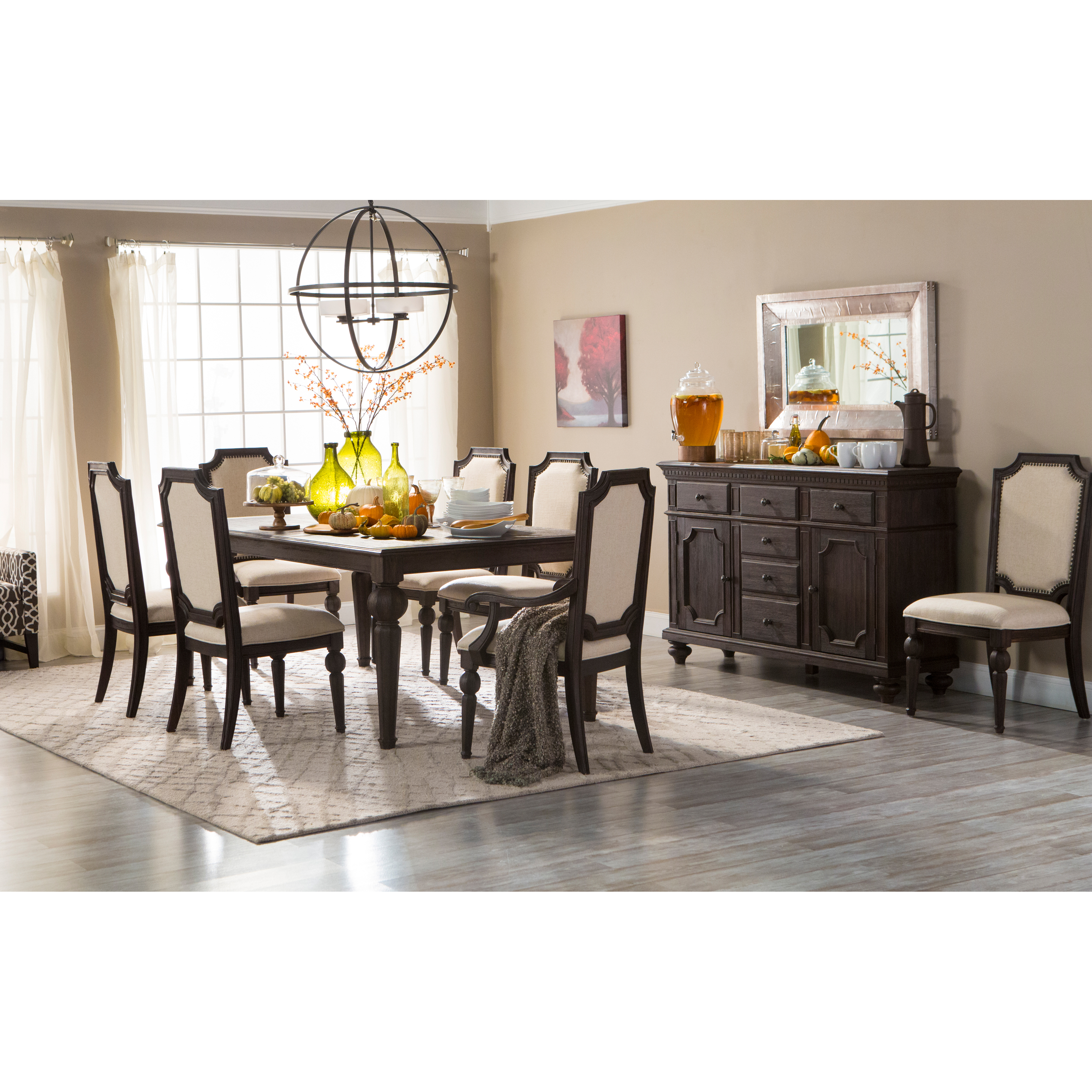 Steve Silver Cayden 9 Piece Dining Table Set With Optional Buffet Hutch