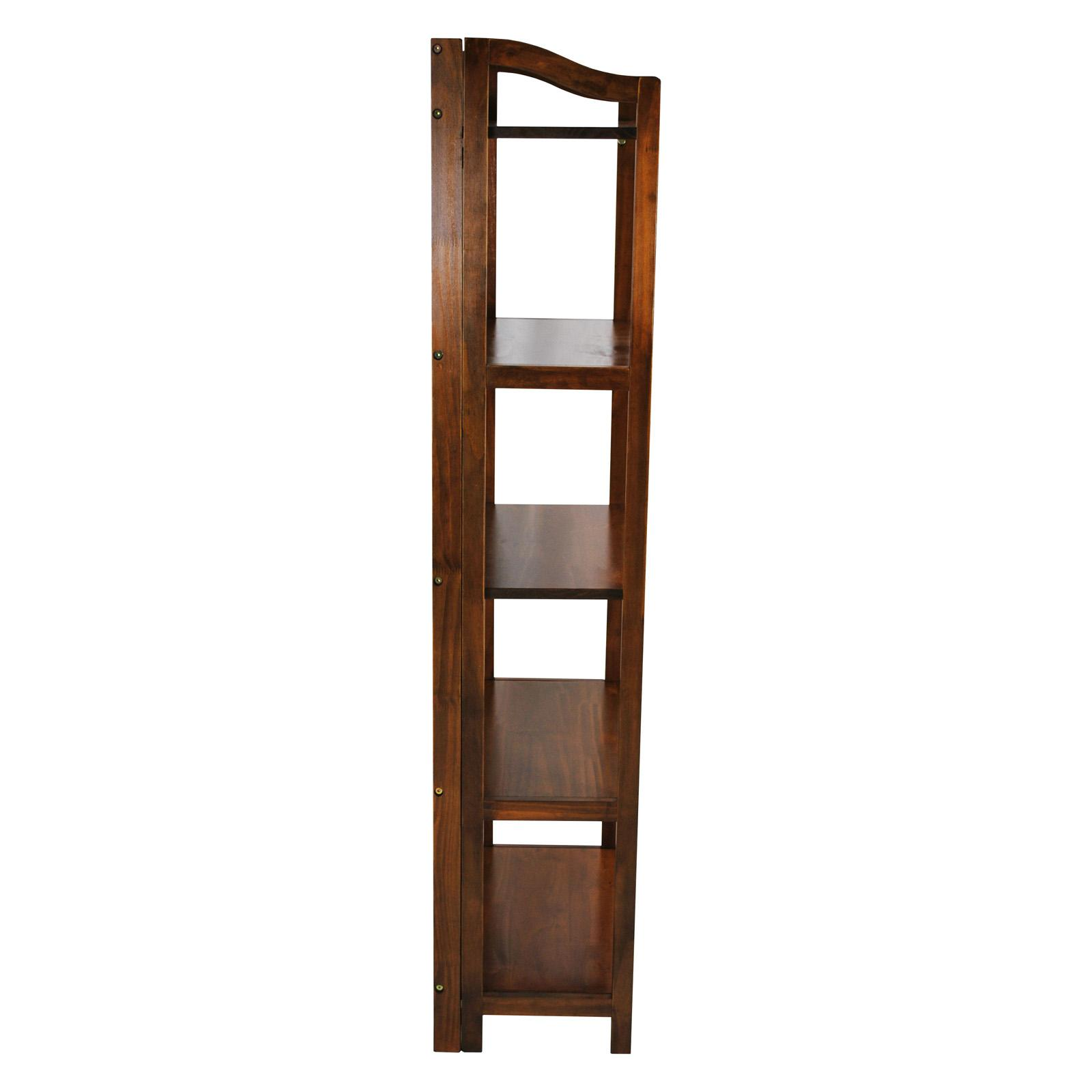 Stratford 5 Shelf Folding Bookcase Warm Brown