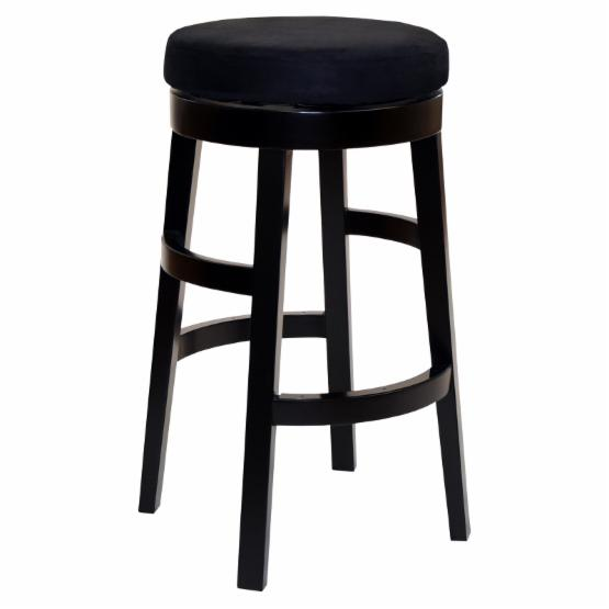 Armen Living Halo 26 in. Counter Stool - Black
