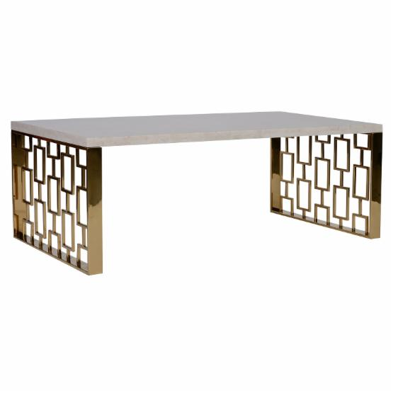 Armen Living Skyline Coffee Table - Marble Top