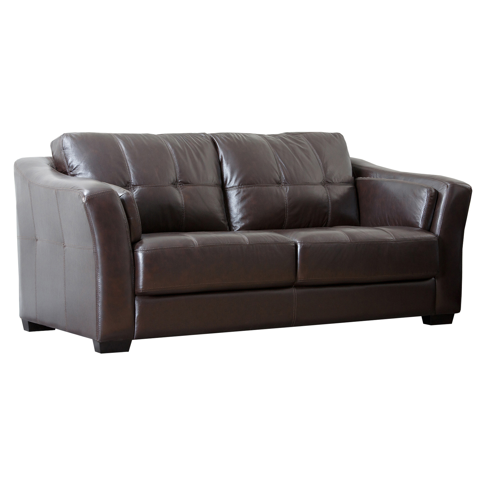 Abbyson Dominica Top Grain Leather Reclining Sofa