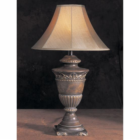 H6125AB Antique Bronze Urn Hydrocal Table Lamp