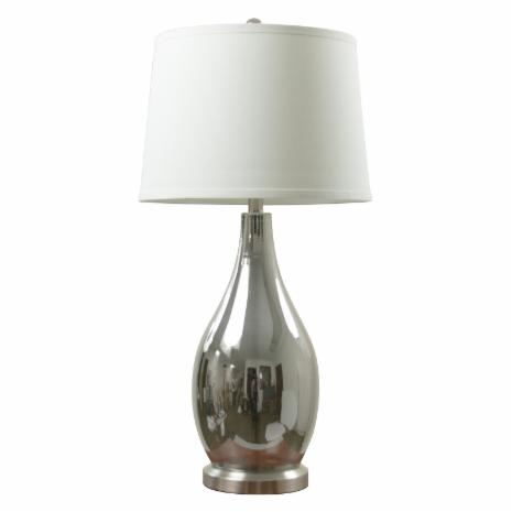 Anthony California 31 In Glass Chrome Table Lamp