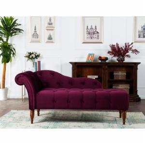 Jennifer Taylor Home Anthony Chaise Lounge - Velvet