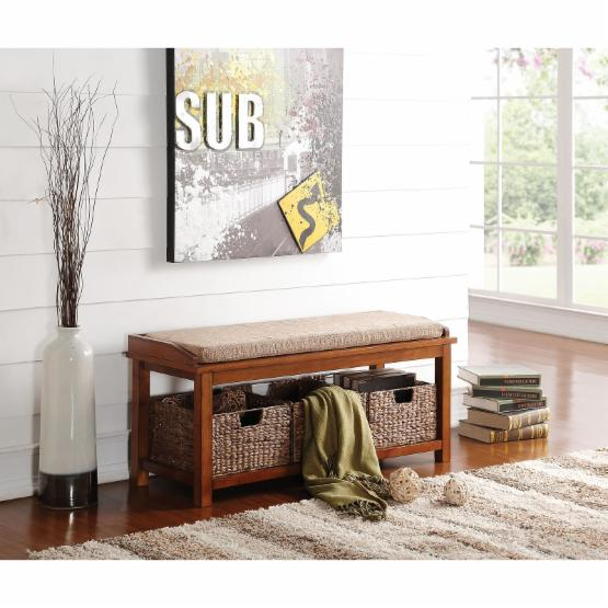 Acme Furniture Letha Entryway Bench with Basket