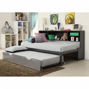 Acme Furniture Renell Twin Platform Bed with Bookcase and Trundle