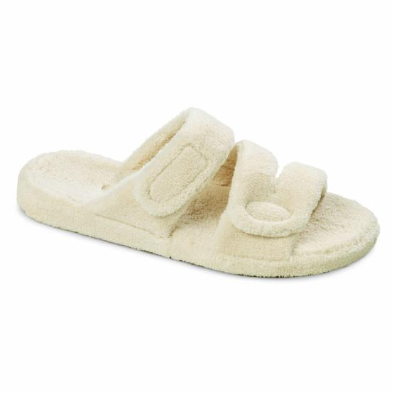 Acorn Spa Fit Womens Z-Strap Slippers - Natural