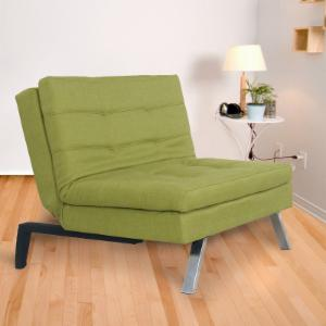 Adeco Trading Foam Cushioned Convertible Chair