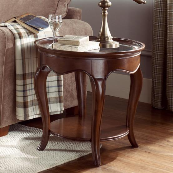 American Drew Cherry Grove The New Generation Oval End Table with Glass Top
