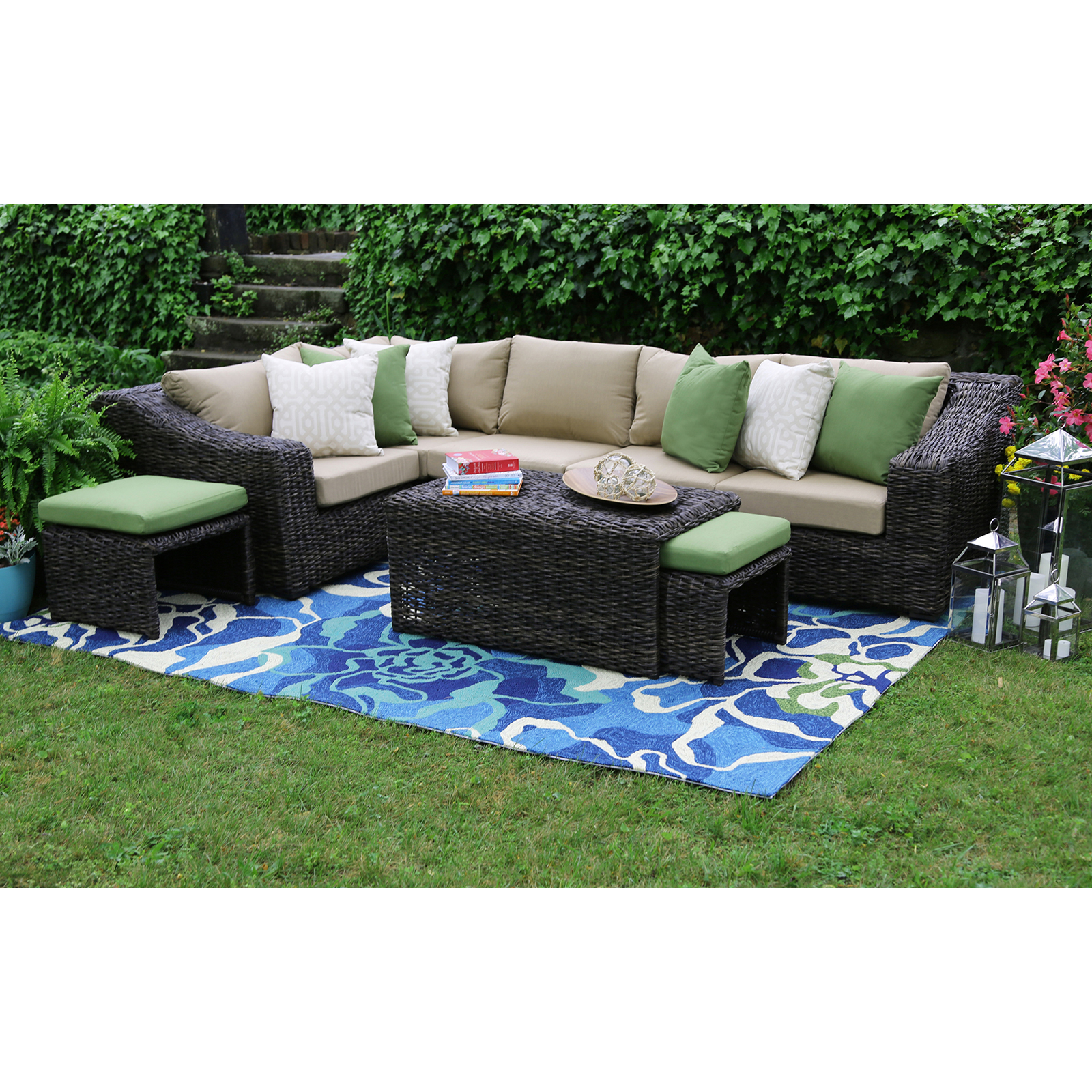 AE Outdoor Williams 8 Piece Sectional Conversation Set