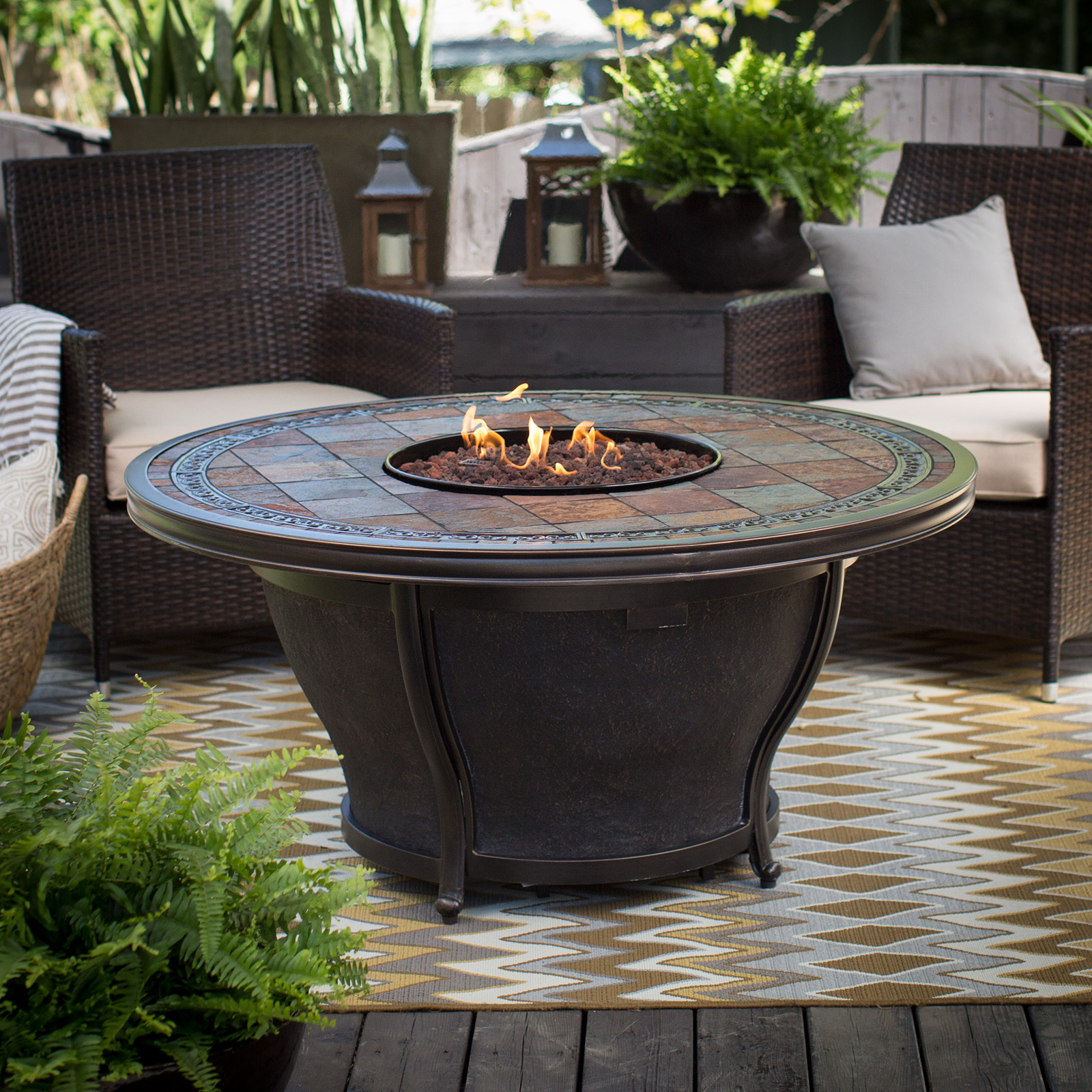 Round Fire Pit Table Cover   AGIO013