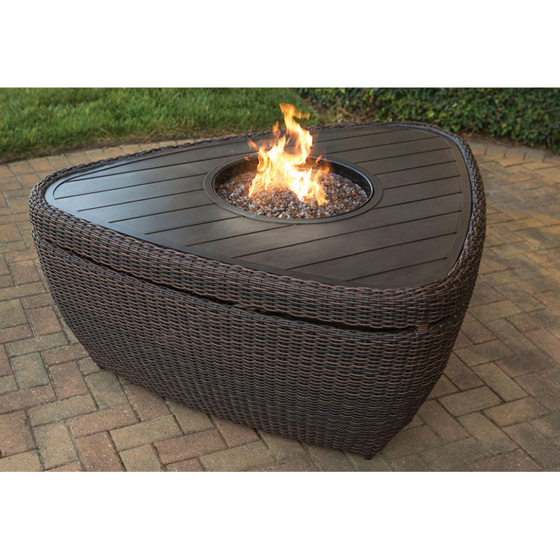 Wicker Fire Table Cover   ARL03900P04