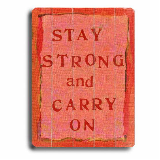 Artehouse Stay Strong Wall Art - 14W x 20H in.