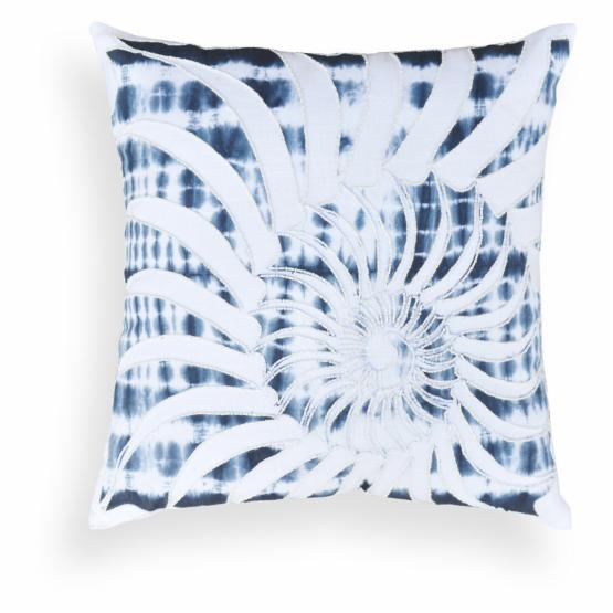 A1 Home Collections Melvina Blue Shell Throw Pillow