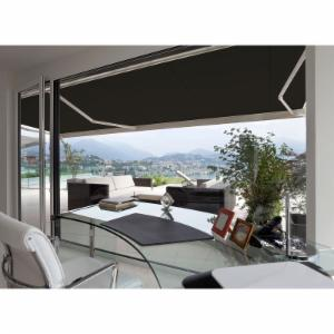 Advaning Luxury L-Series Semi-Cassette Electric with Remote Retractable Patio Awning - Solid Color
