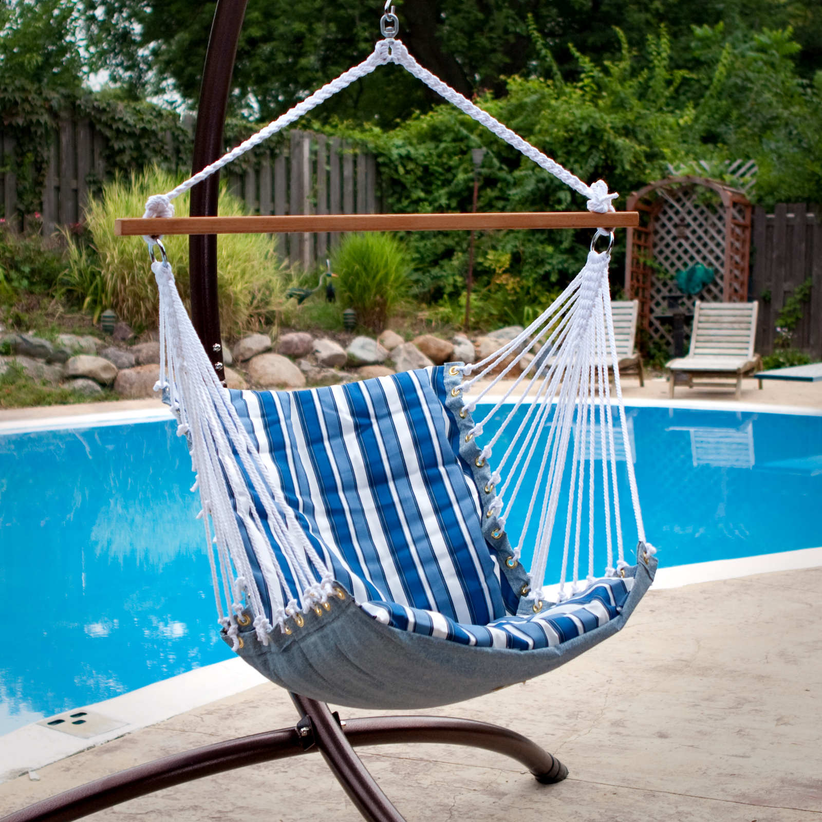 QUICK VIEW. Tropical Palm Stripe Soft Comfort Hanging Hammock Chair