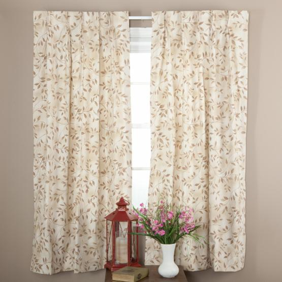 Ellis Curtain Beverly Leaf Pinch Pleat Curtain Panel - One Pair