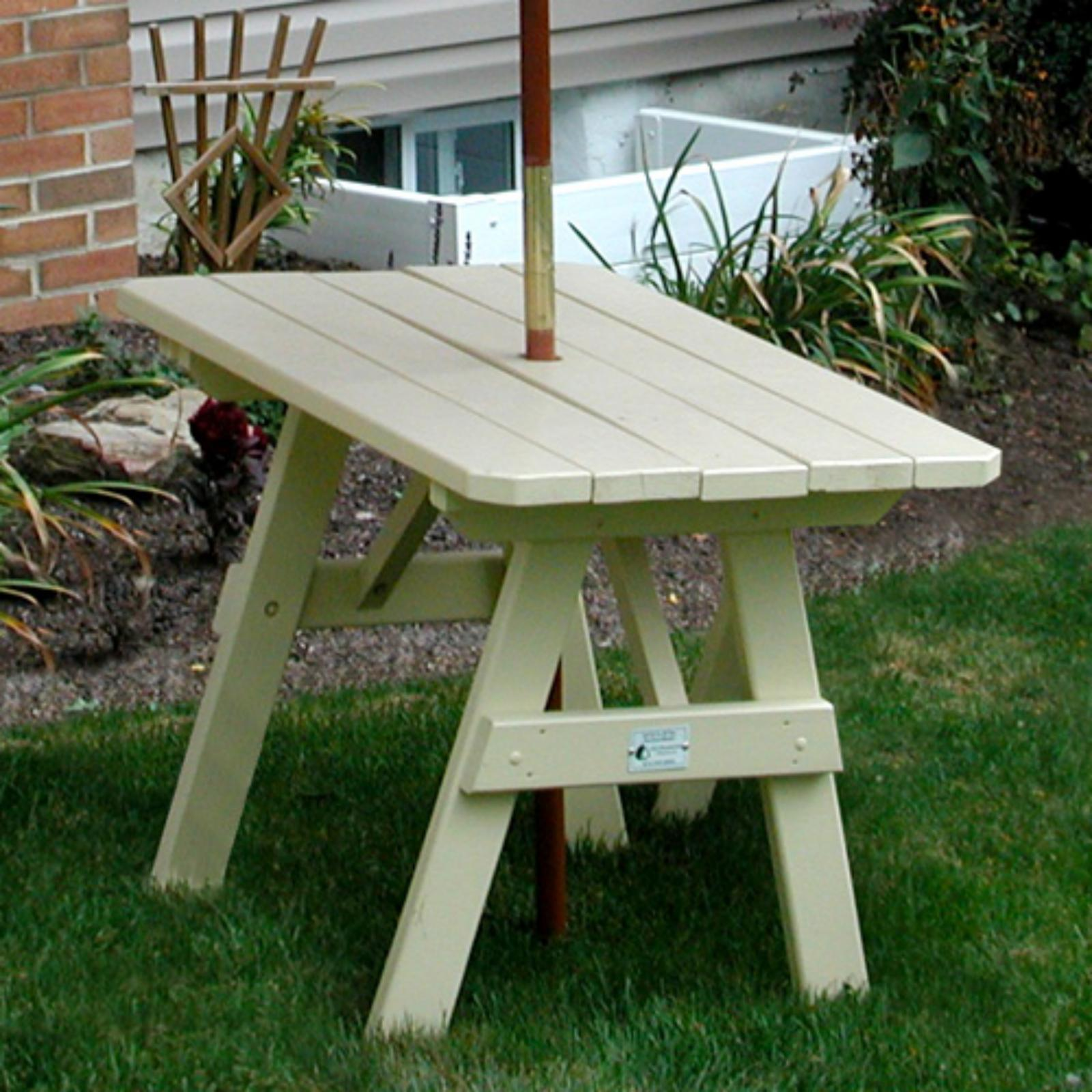 Outdoor A & L Furniture Yellow Pine Traditional Picnic Ta...