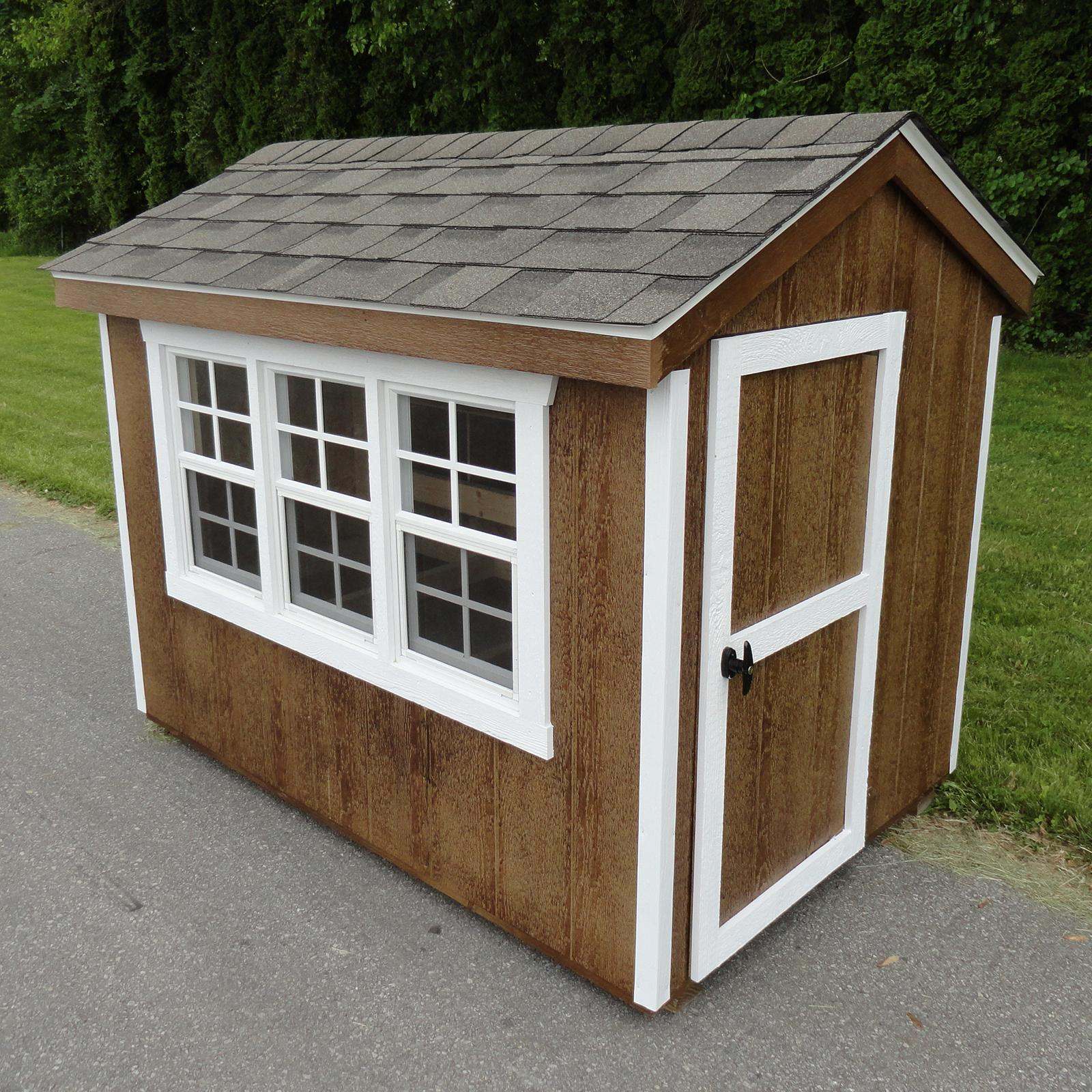 A & L Furniture Henny Penny Chicken Coop Charcoal Brown Dawn Gray - 9300-BROWN/GRAY