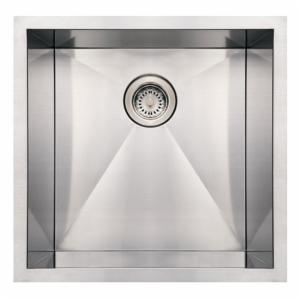 Whitehaus Noahs Collection 19 in. Commercial Single Bowl Undermount Sink