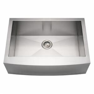 Whitehaus Noahs Collection 30 in. Commercial Arched Front Single Bowl Sink