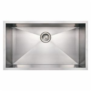 Whitehaus Noahs Collection 32 in. Commercial Single Bowl Undermount Sink