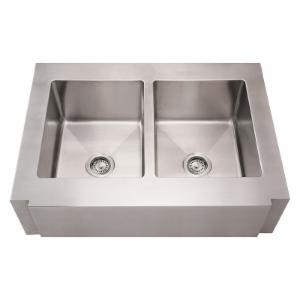 Whitehaus Noahs Collection 36 in. Commercial Double Bowl Sink