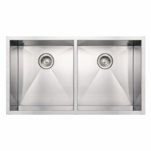 Whitehaus Noahs Collection 37 in. Commercial Double Bowl Undermount Sink
