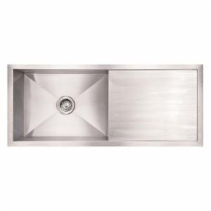 Whitehaus Noahs Collection 40 in. Commercial Single Bowl Reversible Undermount Sink