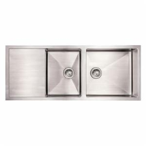 Whitehaus Noahs Collection 52 in. Commercial Single Bowl Reversible Undermount Sink