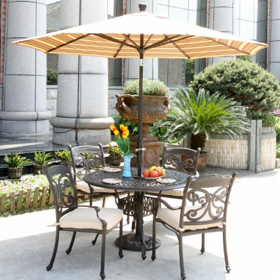 Alfresco Home Farfalla Round Dining Set - Seats 4