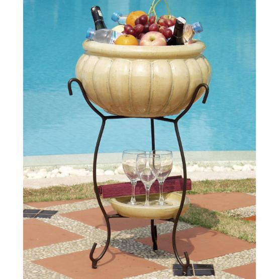 Alfresco Home Scanellato Beverage Cooler - Antique Cream