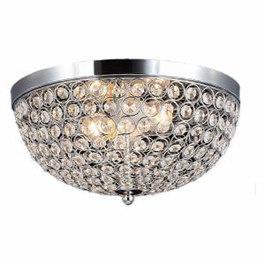Elegant Designs Elipse Crystal Flush Mount Ceiling Light