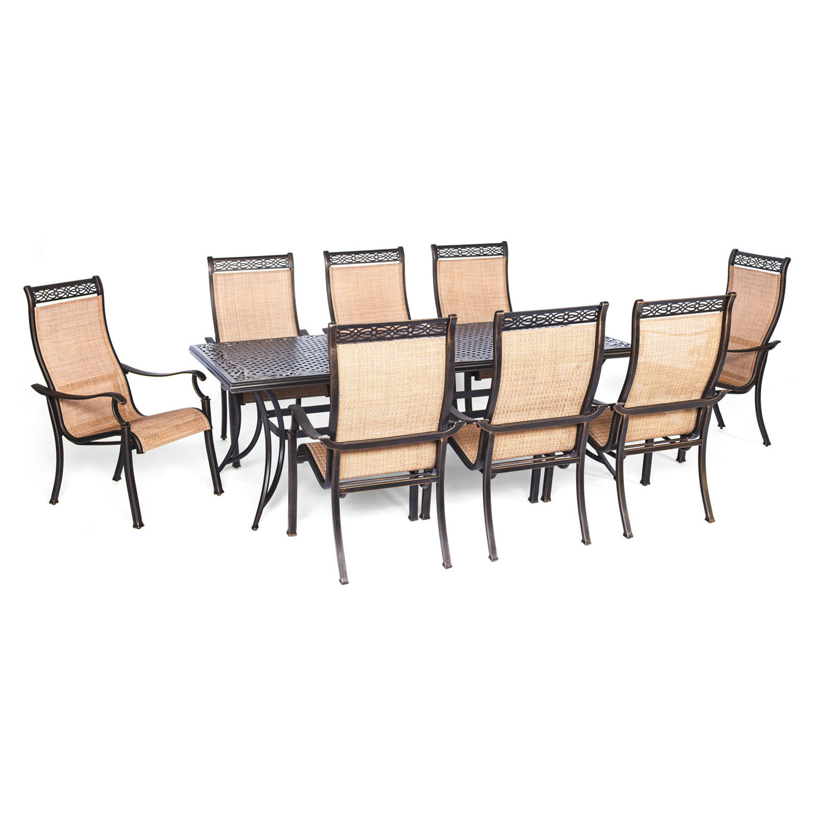 Panama Jack Island Breeze 9 Piece Aluminum Patio Dining Set With Sling  Chairs | Hayneedle