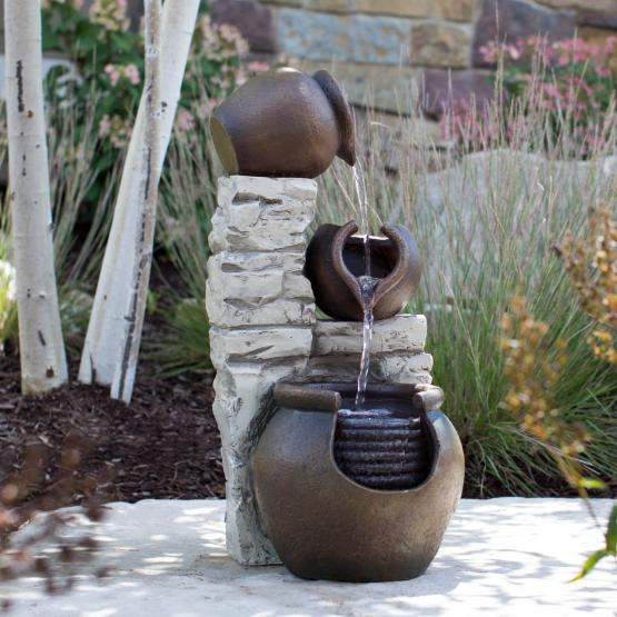 Belham Living Multi-Pot Cascading Fountain