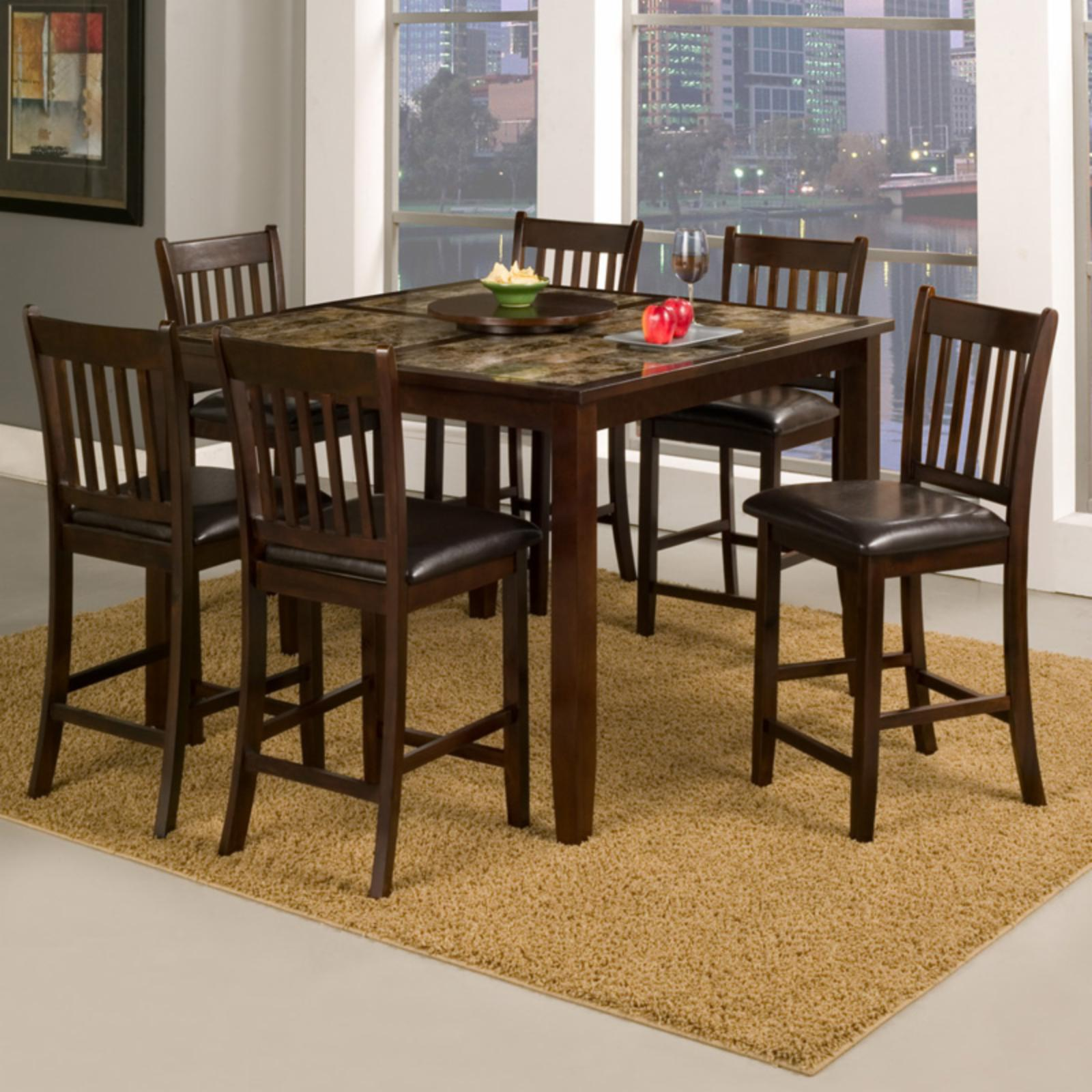 Alpine Furniture Capitola 7 Piece Counter Height Pub Tabl...