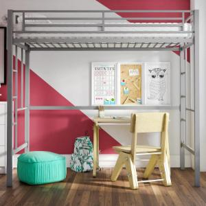 Your Zone Twin Metal Loft Bed