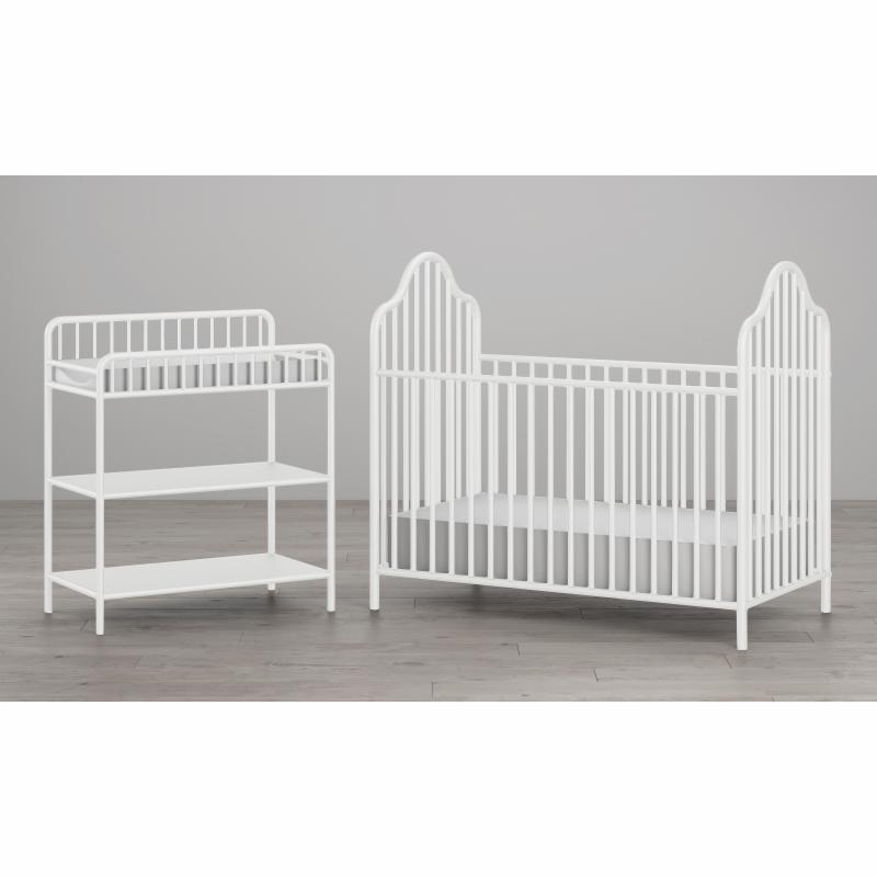 Little Seeds Rowan Valley 2 Piece Lanley Metal Crib and Changing Table Set - 6846196COM