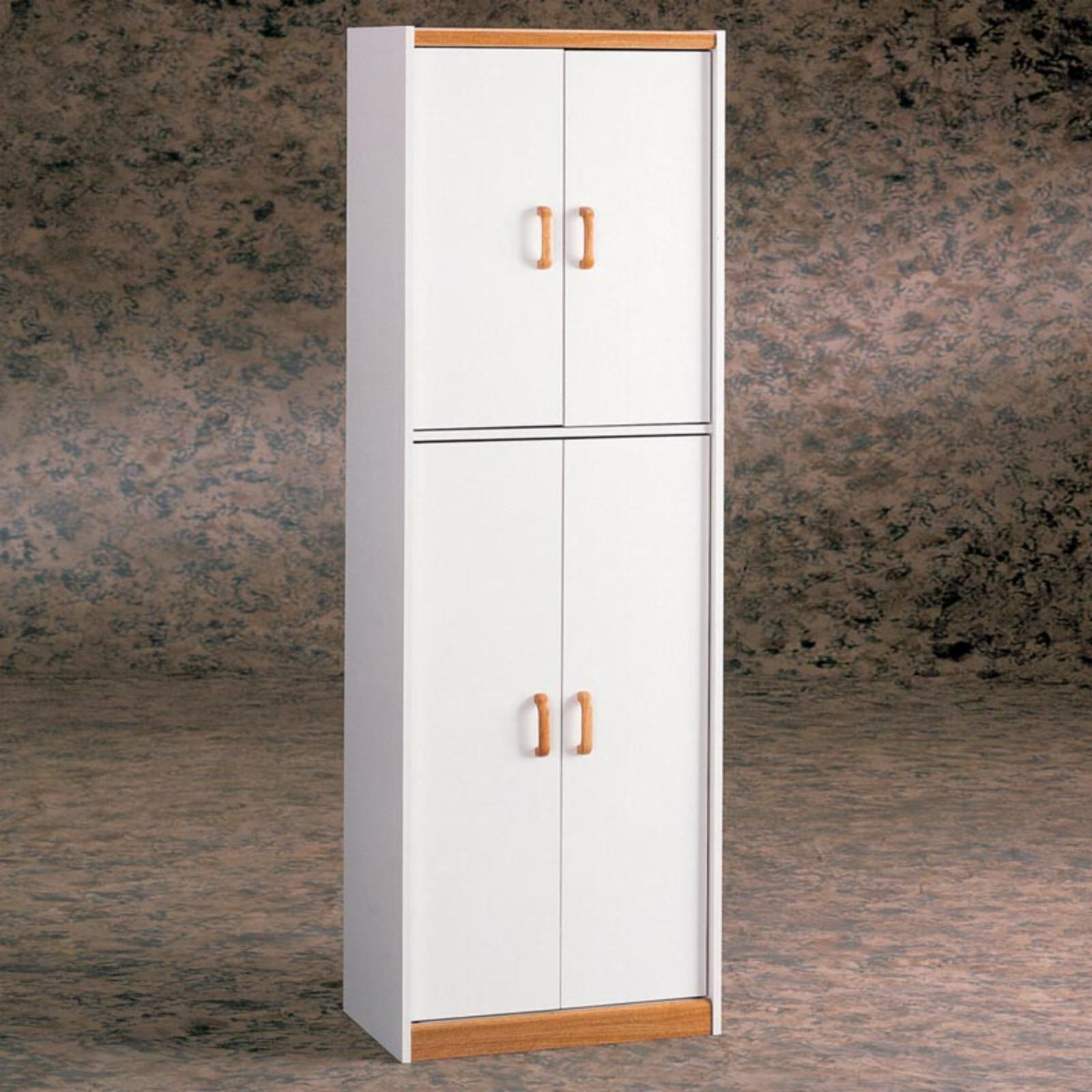 White Deluxe Four Door Pantry Cabinet - 4506