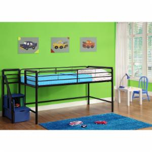 DHP Junior Loft with Steps and Storage - Blue