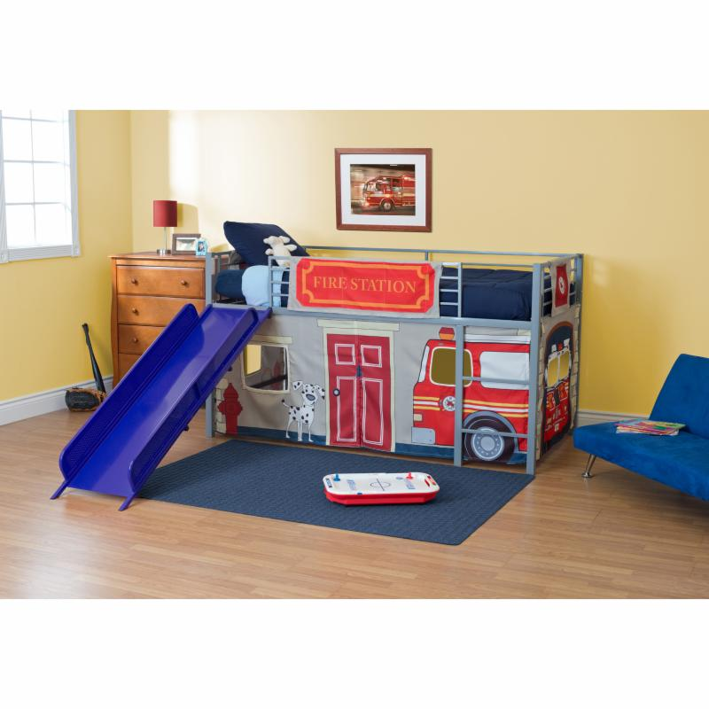 Fire Department Junior Fantasy Loft with Slide - Silver -...