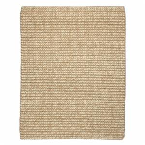 Anji Mountain Zatar Ribbed Loop Pile Wool and Jute Area Rug - Ivory and Beige