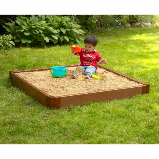 Frame It All Two Inch Series Composite Square Sandbox Kit