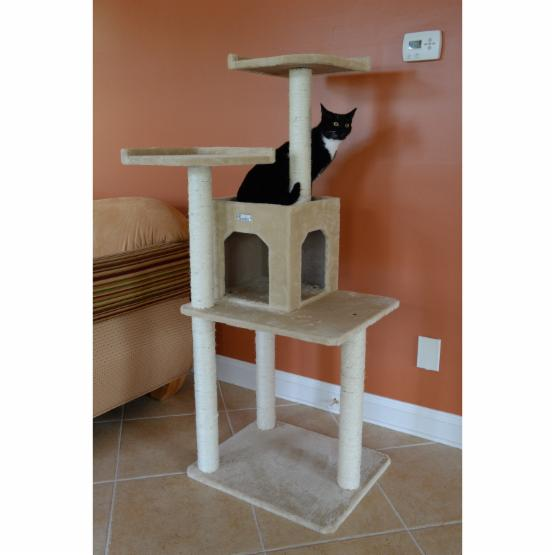 GleePet 57 in. Dual Tower with Condo Cat Tree